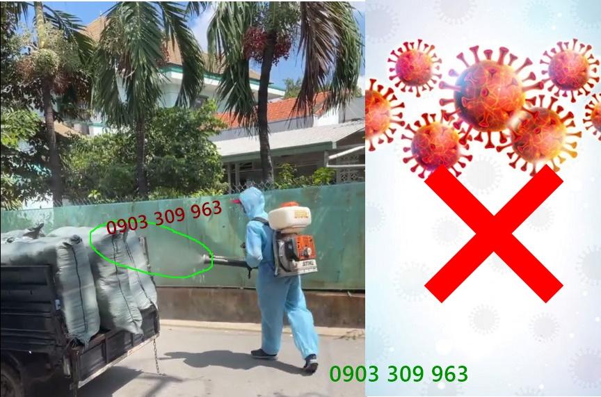 Phun thuốc khử trùng-phòng chống dịch Covid ở sài gòn
