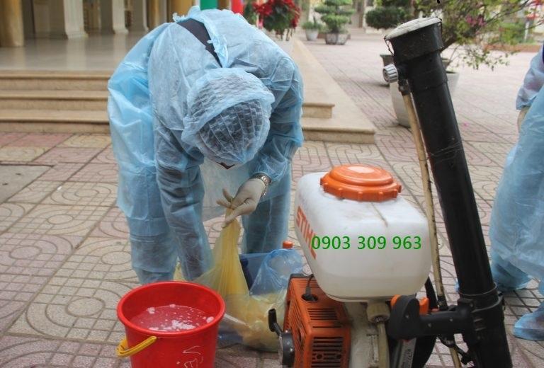 Dịch vụ phun thuốc sát khuẩn khử trùng virus corona ở sài gòn